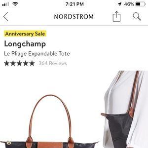 NordstromAnniv Sale exclusive Longchamp expandable